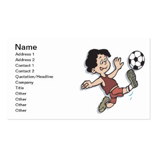 Youth Soccer Pack Of Standard Business Cards