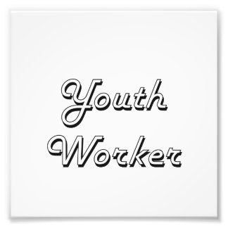 Youth Worker Classic Job Design Photograph