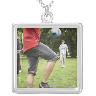 youth, young, friends, park, bbq, grass, trees, square pendant necklace