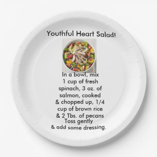 Youthful heart Salad paper plates 9 Inch Paper Plate