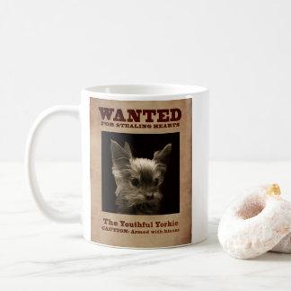 Youthful Yorkie Wanted Mug