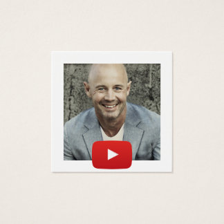 YouTube Channel QR Code Square Business Card