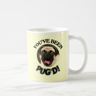 YOU'VE BEEN PUG'D! - FUNNY PUG DOG BASIC WHITE MUG