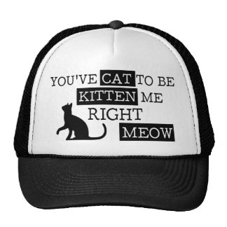 You've cat to be kitten meow funny cap