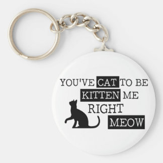 You've cat to be kitten meow funny key ring