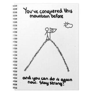 You've Conquered This Mountain Before Notepad Notebooks