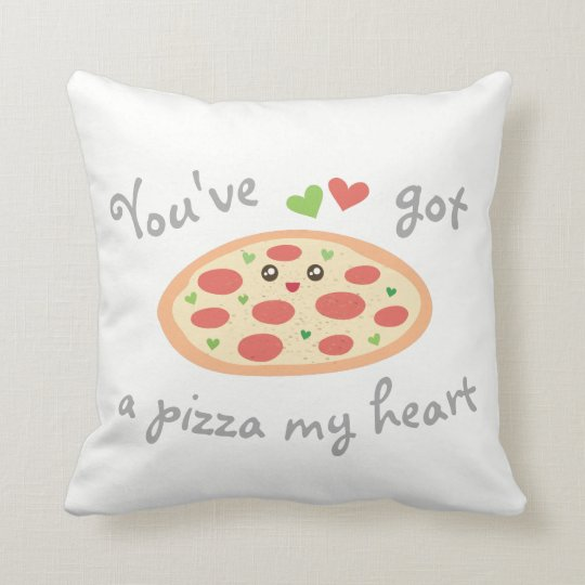 You've Got a Pizza My Heart Cute Funny Love Pun Cushion
