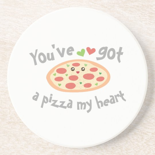You've Got a Pizza My Heart Cute Funny Love Pun Drink Coasters