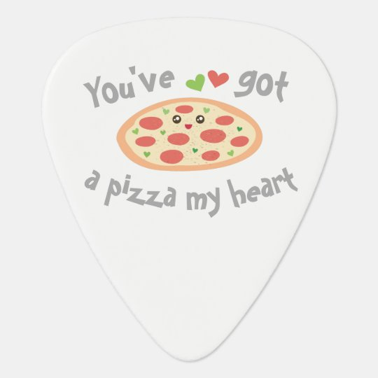 You've Got a Pizza My Heart Cute Funny Love Pun Plectrum