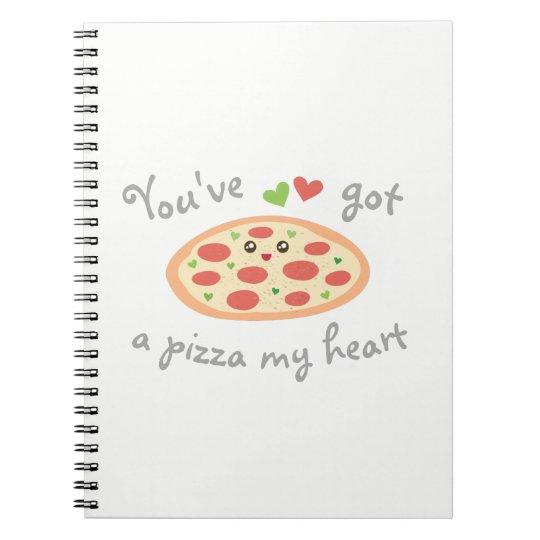 You've Got a Pizza My Heart Cute Funny Love Pun Spiral Notebook