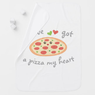 You've Got a Pizza My Heart Funny Pun Unisex Baby Baby Blanket