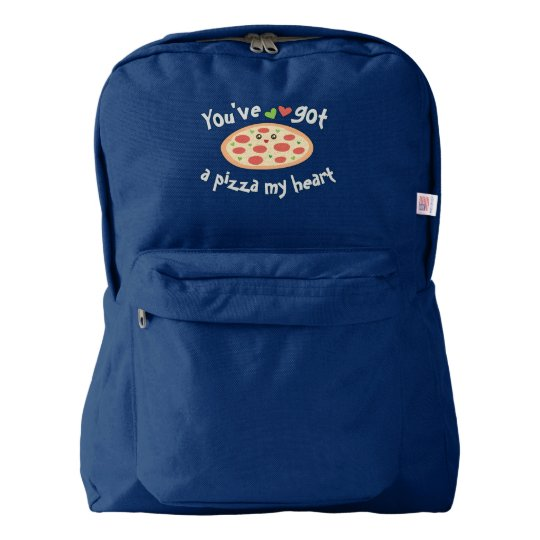 You've Got a Pizza My Heart Funny Punny Food Backpack