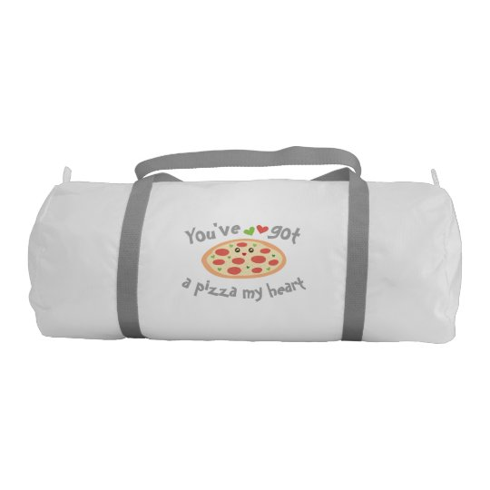You've Got a Pizza My Heart Funny Punny Food Gym Duffel Bag