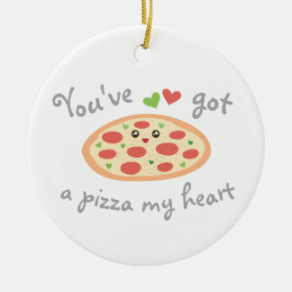 You've Got a Pizza My Heart Funny Punny Food Humor Christmas Ornament