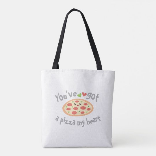 You've Got a Pizza My Heart Funny Punny Food Tote Bag
