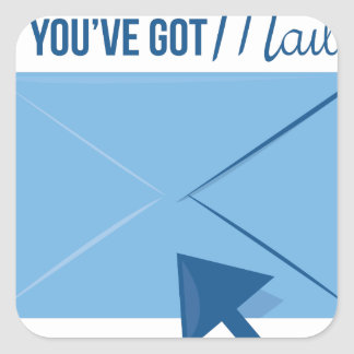 Youve Got Mail Square Sticker
