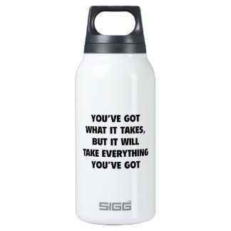 You've got What It Takes 10 Oz Insulated SIGG Thermos Water Bottle