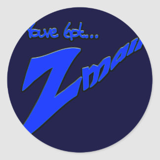 Youve Got Z-mail-The funny fad thats real Round Sticker