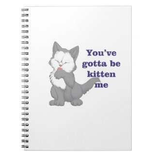 You've gotta be kitten me notebook