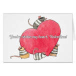 You've stolen my heart, valentine! greeting card