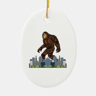 Yowie at Large Ceramic Oval Decoration