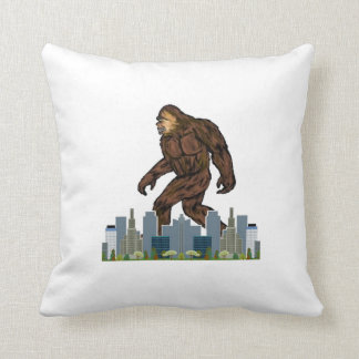 Yowie at Large Throw Pillow