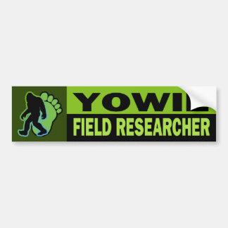 Yowie Field Researcher Bumper Sticker