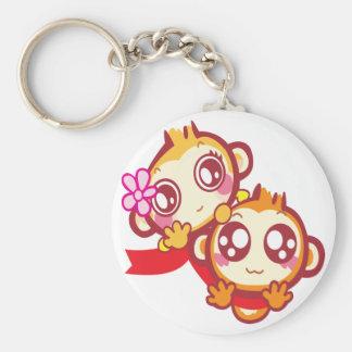 YoYo & CiCi Basic Round Button Key Ring