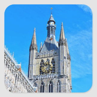 Ypres Cloth Hall Square Sticker