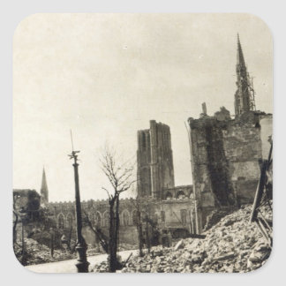 Ypres from Rue de Ville, June 1915 Square Sticker