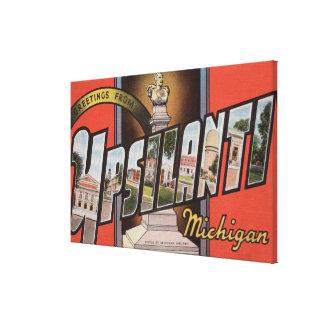 Ypsilanti, Michigan - Large Letter Scenes Canvas Print