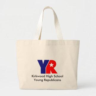YR Logo, Kirkwood High School Young Republicans Jumbo Tote Bag