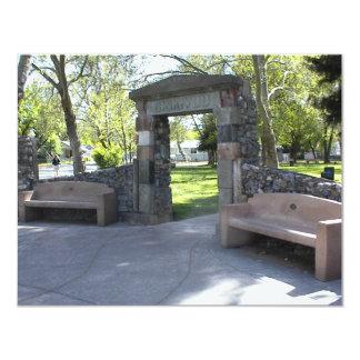 Yreka, CA, Entrance to Yreka Park 4.25x5.5 Paper Invitation Card