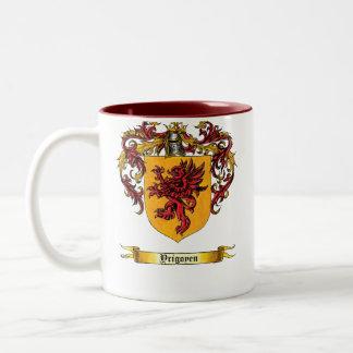 Yrigoyen Shield of Arms Two-Tone Mug