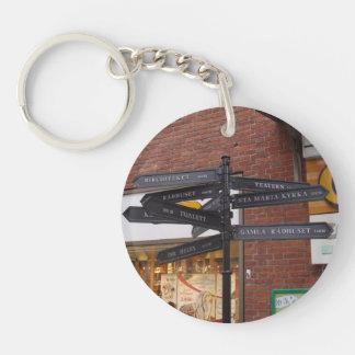 Ystad Sweden Round Acrylic Keychains