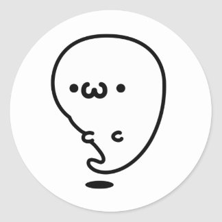yu? Ghost Round Sticker