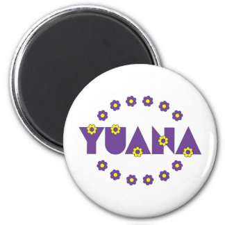 Yuana in Flores Purple 6 Cm Round Magnet