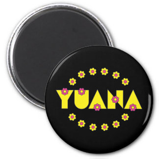Yuana in Flores Yellow 6 Cm Round Magnet