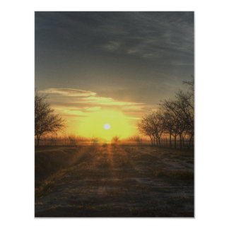 Yuba Country Sunset 11 Cm X 14 Cm Invitation Card