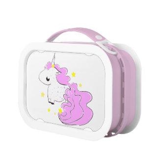 Yubo Lunchbox,pink Unicorn with stars Lunch Box