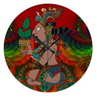 Yucatan Psychedelic Mexicano Visiones Large Clock
