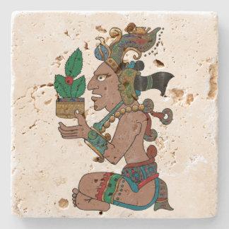 Yucatan Psychedelic Mexicano Visiones Stone Coaster
