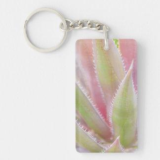 Yucca plant close-up Double-Sided rectangular acrylic key ring