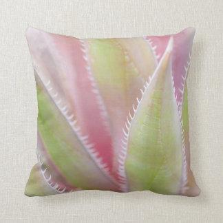 Yucca plant close-up throw pillow
