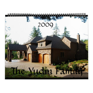 Yudin Family, 2009 Wall Calendars
