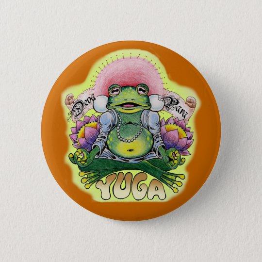 Yuga frog 6 cm round badge