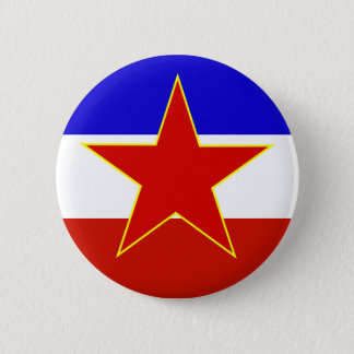 Yugoslavia Flag 6 Cm Round Badge