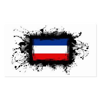 Yugoslavia Flag Business Cards