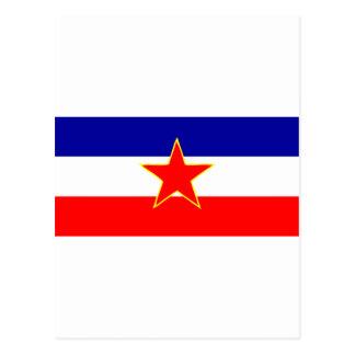 YUGOSLAVIA FLAG POSTCARD