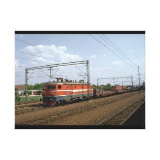 Yugoslavia, JZ electric loco_Trains of the World Canvas Print